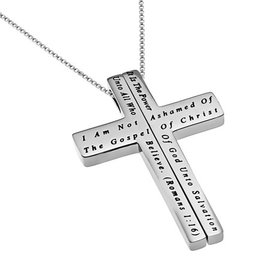 "Iron Cross Necklace: Unashamed 18"" Stainless Steel"