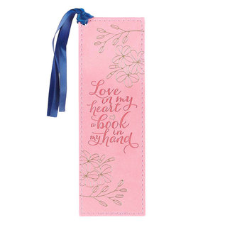 Bookmark - Love in My Heart, Faux Leather