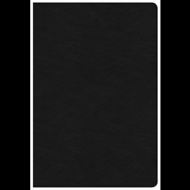 NKJV Large Print Ultrathin Reference Bible, Black Premium Genuine Leather