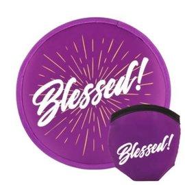 Foldable Fan: Blessed, Purple