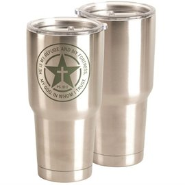 Stainless Steel Tumbler - Refuge and Fortress, Silver