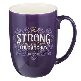 Mug - Strong and Courageous, Purple