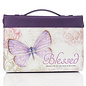 Bible Cover - Blessed Purple Butterfly, Medium