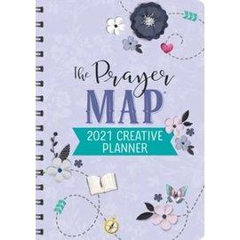 2021 Creative Planner: The Prayer Map, Purple Flowers