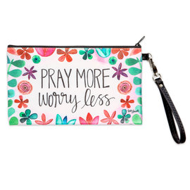 Zippered Bag - Pray More Worry Less