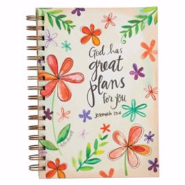 Journal - God has Great Plans for You, Wirebound