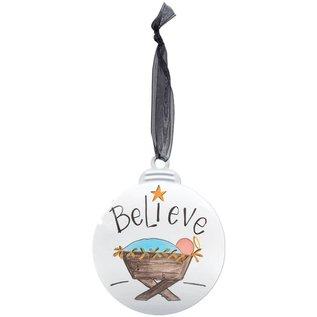 Ornament - Believe Manger