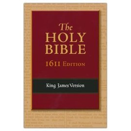 KJV 1611 Edition Bible, Black Genuine Leather
