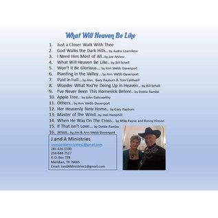 CD - What Will Heaven Be Like (Jim & Ann Webb Davenport)