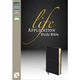 NASB Life Application Study Bible, Black Top-Grain Leather