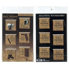 Magnetic Bookmarks - Armor of God, 6 Pack
