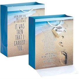 Gift Bag - Footprints, Medium