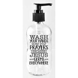 Soap Dispenser - Wash Your Hands, Glass