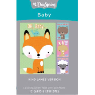 Boxed Cards - Baby, Big Characters (KJV)