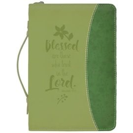 Bible Cover - Blessed are those who trust in the Lord, Green
