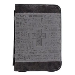 Bible Cover - Names of God, Black/Gray