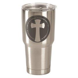 Stainless Steel Tumbler - Cross