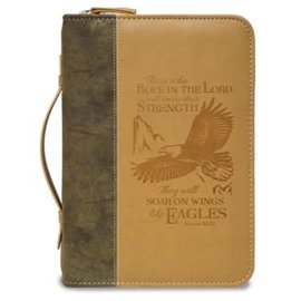 Bible Cover - Wings of Eagles, Brown