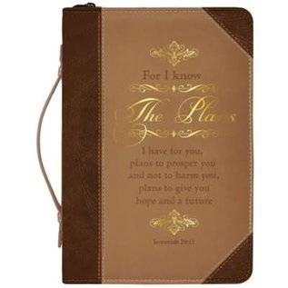 Bible Cover - The Plans, Brown/Gold