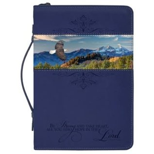 Bible Cover - Flying Eagle, Navy Blue