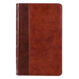 KJV Giant Print Bible, Brown LuxLeather