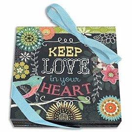 Coasters - Keep Love in your Heart, Chalk Bird