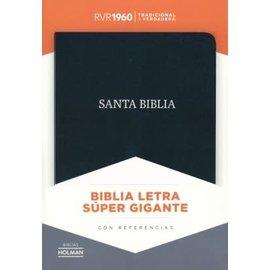 RVR60 Super Giant Print Reference Bible, Black Bonded Leather, Indexed
