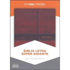RVR60 Super Giant Print Reference Bible, Brown LeatherTouch w/Magnetic Flap, Indexed
