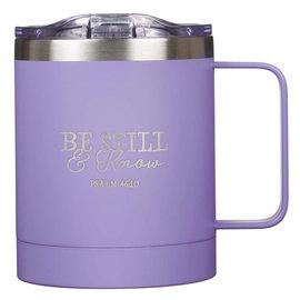 Stainless Steel Mug - Be Still, Lavender Camp Style