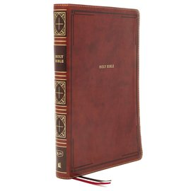 KJV Giant Print Thinline Bible, Brown Leathersoft