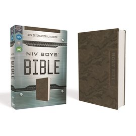 NIV Boys' Backpack Bible, Camo Leathersoft