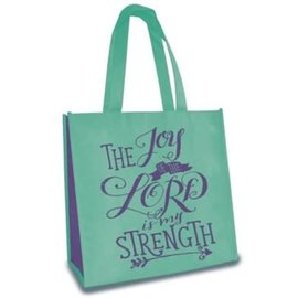 Tote Bag - The Joy of the Lord is My Strength, Green