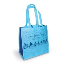 Tote Bag - I Will Sing, Blue