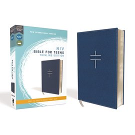 NIV Thinline Bible for Teens, Navy Leathersoft