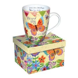 Mug - Fill Your Life with Love, Butterfly