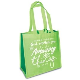 Tote Bag - God Created You, Green