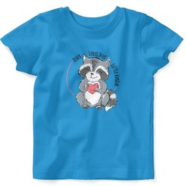 T-shirt - Raccoon, Turquoise