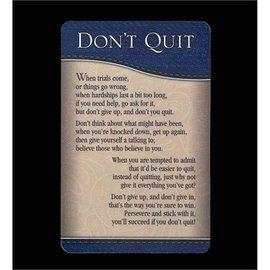Pocket Card - Don't Quit