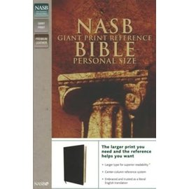 NASB Giant Print Personal Size Reference Bible, Black Genuine Leather