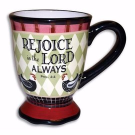 Mug - Rejoice in the Lord, Rooster
