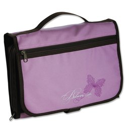 Bible Cover - Believe Butterfly, Purple Tri-fold