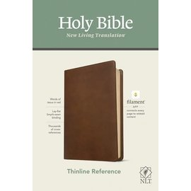 NLT Thinline Reference Bible, Rustic Brown Leatherlike (Filament)