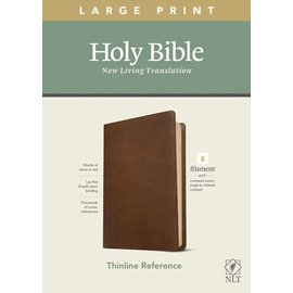 NLT Large Print Thinline Reference Bible, Rustic Brown Leatherlike (Filament)