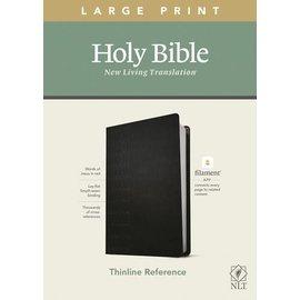 NLT Large Print Thinline Reference Bible, Cross Grip Black Leatherlike (Filament)