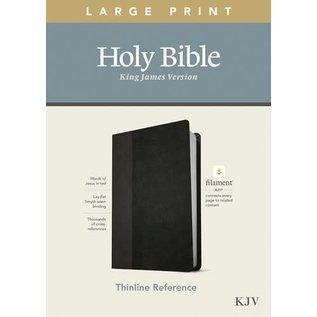 KJV Large Print Thinline Reference Bible, Black & Onyx Leatherlike (Filament)