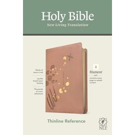 NLT Thinline Reference Bible, Brushed Pink Leatherlike (Filament)