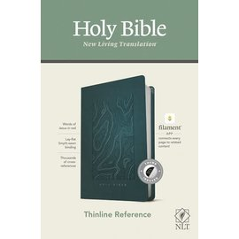 NLT Thinline Reference Bible, Earthen Teal Blue Leatherlike, Indexed (Filament)