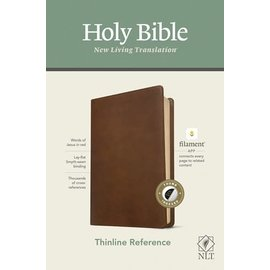 NLT Thinline Reference Bible, Rustic Brown Leatherlike, Indexed (Filament)