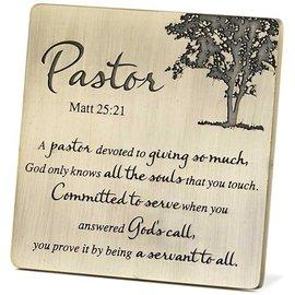 Tabletop Plaque - Pastor