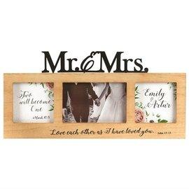 Photo Frame - Mr. & Mrs., Wood